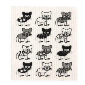 dish cloth cat