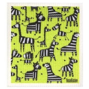 dish cloth zebra