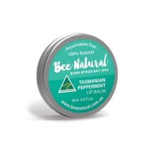 Bee Natural Lip Balm Tin Peppermint