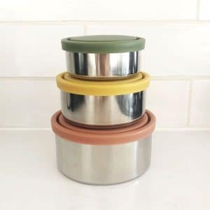 Ever Eco Round Nesting Stainless Steel Containers Autumn Collection