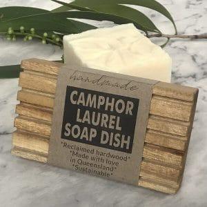 RECLAIMED TIMBER SOAP DISH – CAMPHOR LAUREL